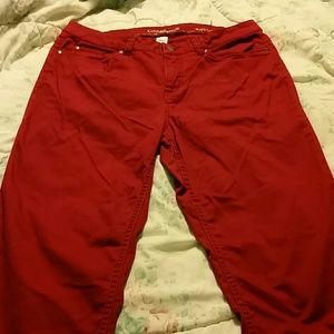 Croft and Barrow cranberry jeans